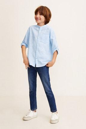 MANGO Kids Erkek Çocuk Mavi Gömlek 43067017