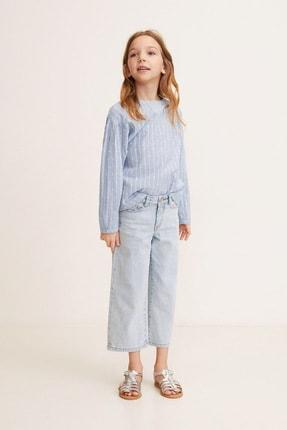 MANGO Kids Kız Çocuk Mavi Gömlek 43043715