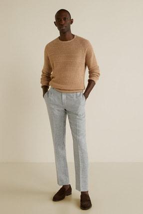 MANGO Man Erkek Açık/Pastel Gri Pantolon 43067012