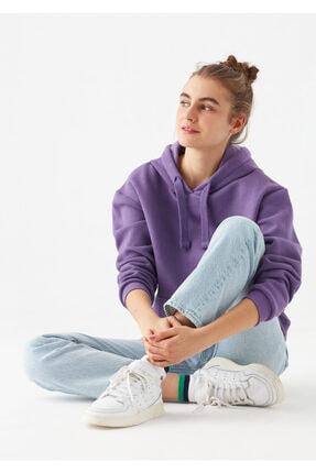 Mavi Kadın Mor Kapüşonlu Sweatshirt