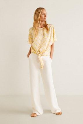 MANGO Woman Kadın Kırık Beyaz Bluz 43097028