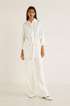 MANGO Woman Kadın Bej Gömlek 41020843