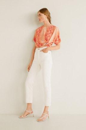 MANGO Woman Kadın Parlak Turuncu Bluz 41087809