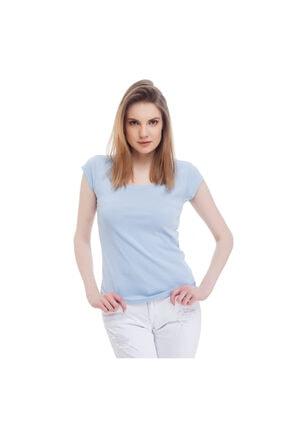 Mustang Kadın T-shirt Açık Mavi