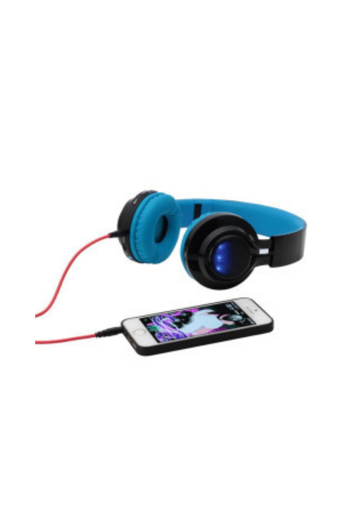 zore Bt-005 Bluetooth Kulaküstü Kablosuz Kulaklık Led Işıklı Sporcu Kulaklık 2