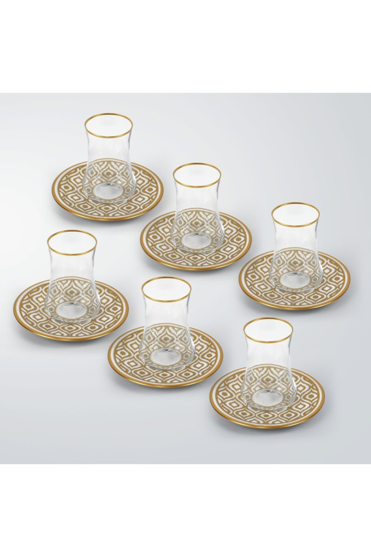 Koleksiyon1 Dervish Ikat Gold 6'lı Çay Seti  31000040258 2