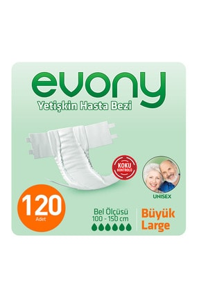 Evony Yetişkin Hasta Bezi Large 120 Adet