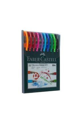 Faber Castell Faber 1425 0.7 Mm Iğne Uçlu Tükenmez Kalem 10 Renk (5215142557)