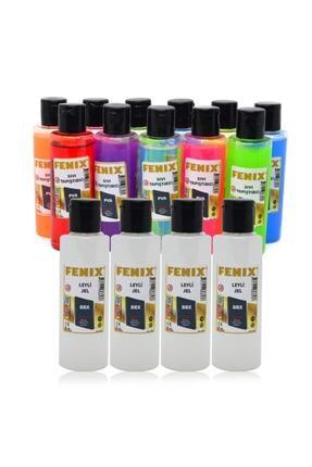 Fenix Slime Slaym Yapma Seti Hazır Oyun Jeli Sıvı 12 Adet