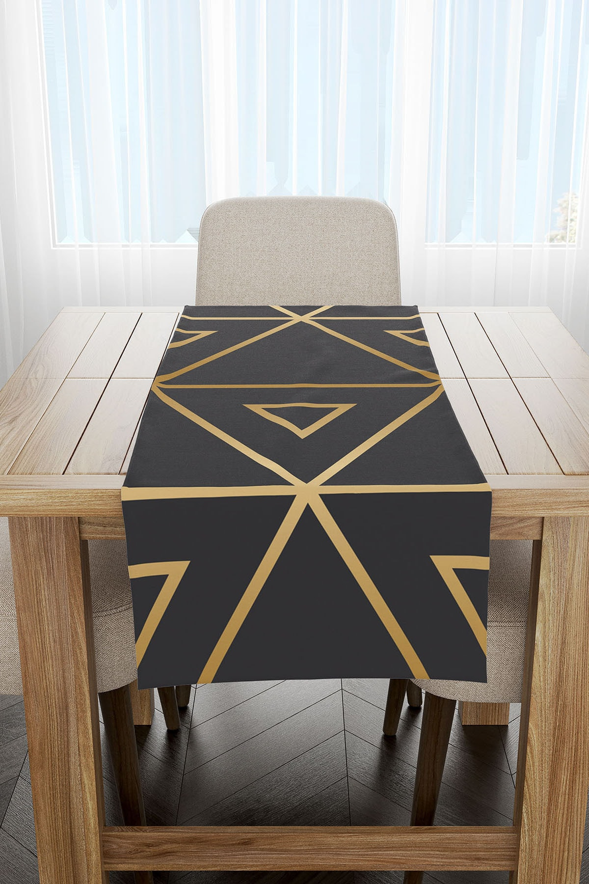 Ysahome Geometrik Desenli Dekoratif Modern Runner 2
