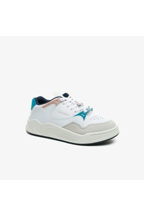 Lacoste Court Slam 0721 3 Sfa Kadın Beyaz - Bej - Açık Pembe Sneaker 741SFA0061