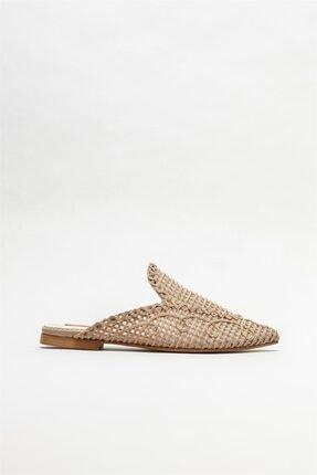 Elle Shoes Kadın Naturel Düz Terlik