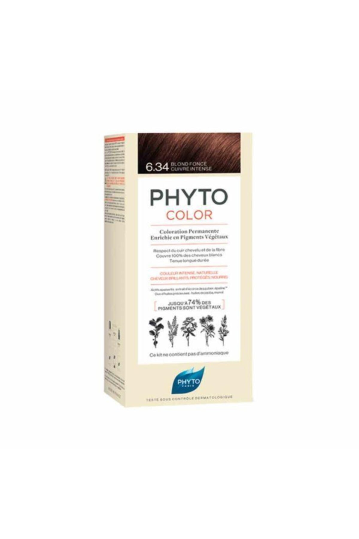 Phyto Color Bitkisel Saç Boyası 6.34 - Koyu Kumral Dore Bakır Yeni Formül 1