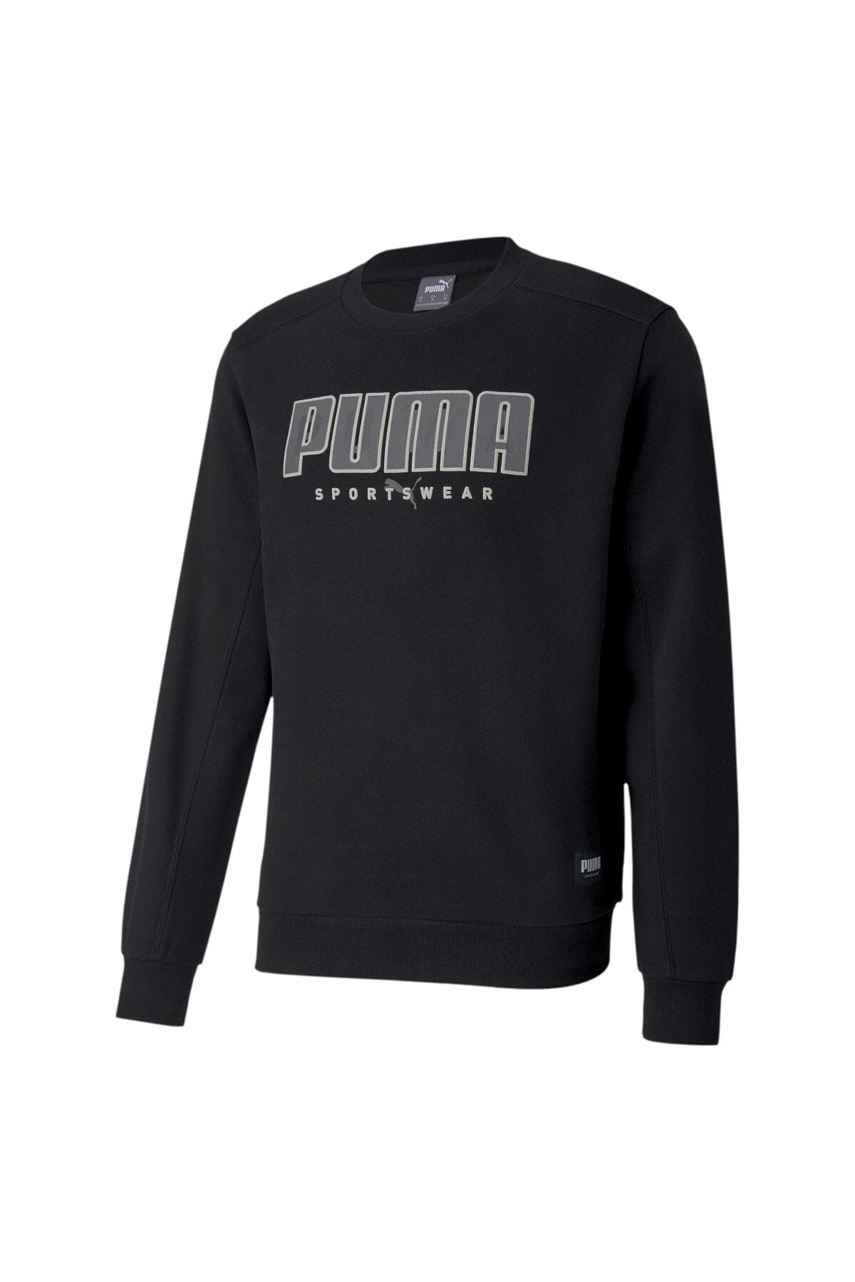Puma ATHLETICS CREW FL Siyah Erkek Sweatshirt 101119420