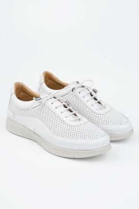 Marjin Kadın Beyaz Hakiki Deri Comfort Ayakkabı Amaso