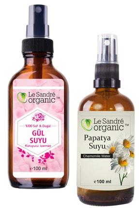 Le Sandre Organic Papatya Suyu 100 Ml & Gül Suyu 100 Ml