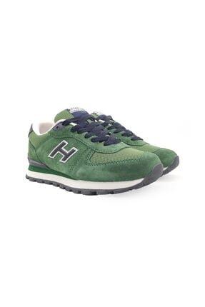 Hammer Jack Kadın Yeşil Lacivert Hakiki Deri Ayakkabı