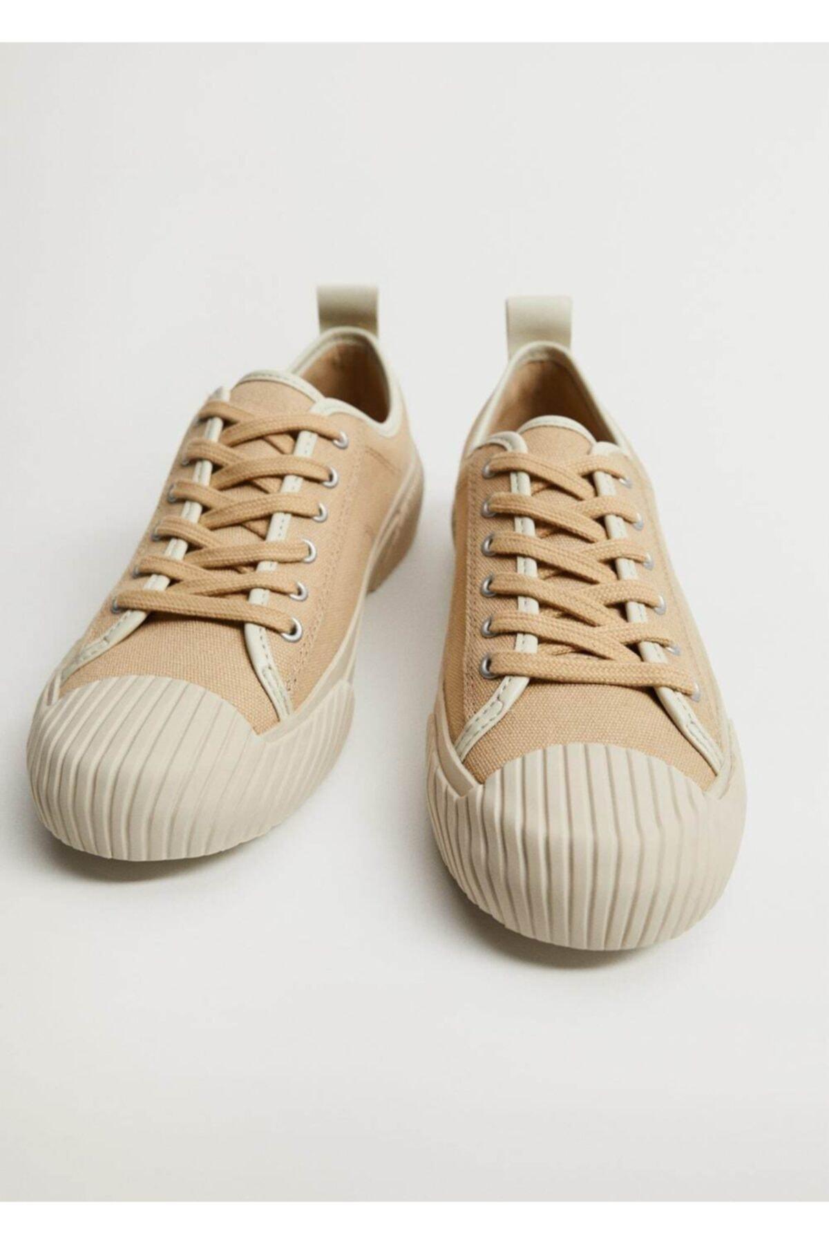 MANGO Woman Organik Pamuklu Spor Ayakkabı 1