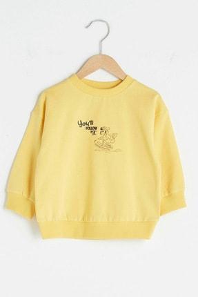 LC Waikiki Erkek Bebek Pastel Sarı Fyr Sweatshirt