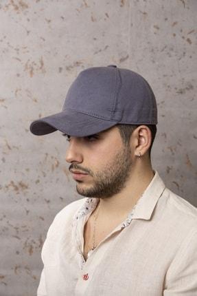 ÜN ŞAPKA Yazlık Şapka-gri Arkası Ayarlamalı Canvas Kumaş Şapka