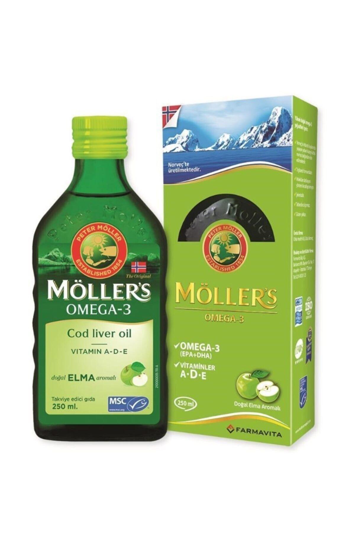 Mollers Omega 3 Balık Yağı Şurubu Doğal Elma Aromalı 250 Ml 1