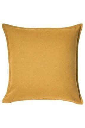 IKEA Minder Kırlent Kılıfı Meridyendukkan 50x50 Cm Altın Rengi Fermuarlı Yastık Kılıfı