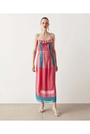 İpekyol Desen Mixli Elbise