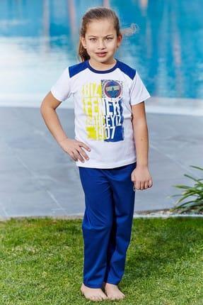Fenerbahçe Lisanslı Genç Kız Pijama Takımı Beyaz