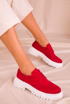SOHO Kırmızı Süet Kadın Casual Ayakkabı 15978