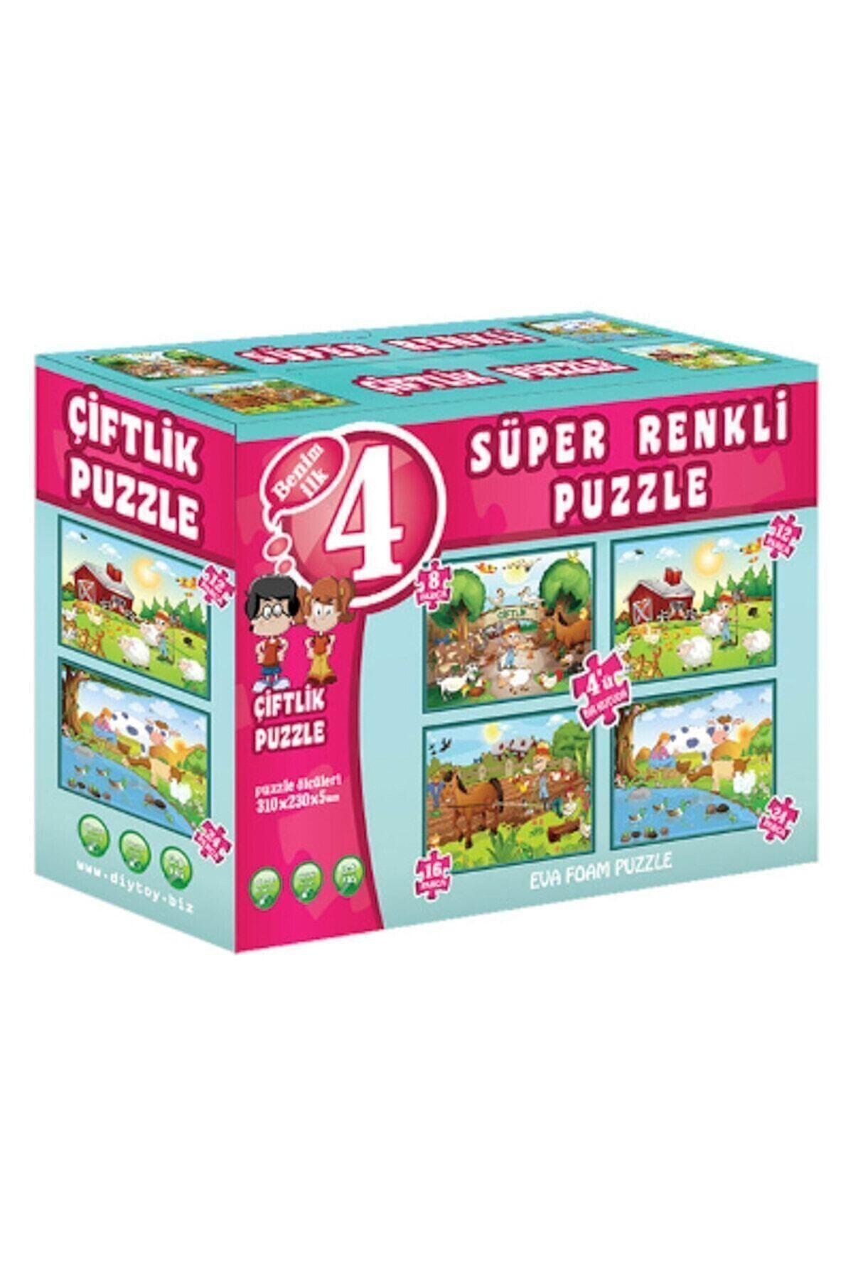 DIYTOY Çiftlik Süper Renkli Puzzle 1