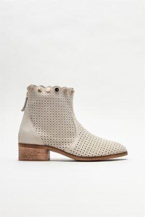 Elle Shoes Kadın Bej Deri Yazlık Bot