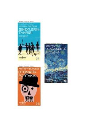 İş Bankası Kültür Yayınları Sineklerin Tanrısı - Otomatik Portakal - Olağanüstü Bir Gece