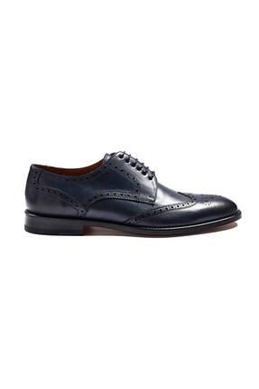 Hemington Erkek Lacivert El Yapımı Klasik Deri Ayakkabı