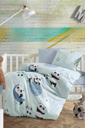 LadyModa Bebek Nevresim Takımı Pamuklu Sevimli Panda