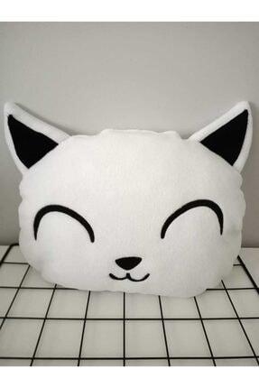 HENO BUTİK Beyaz Kedi Peluş Yastık