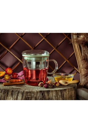 Madame Coco Boulogne Süzgeçli Kupa - Mint Yeşili - 400 ml