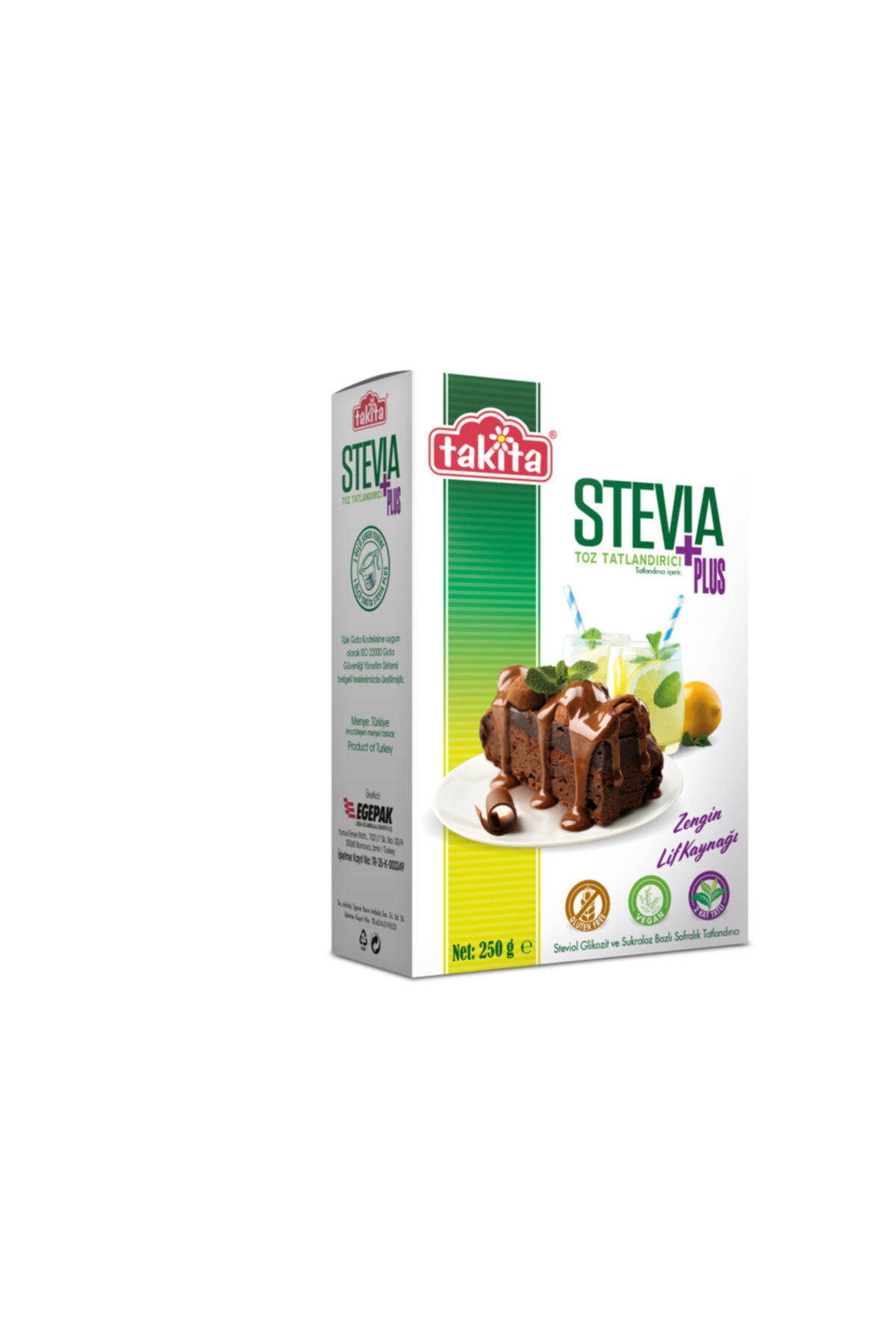Takita Stevia Plus Toz Tatlandırıcı 250 Gr 1
