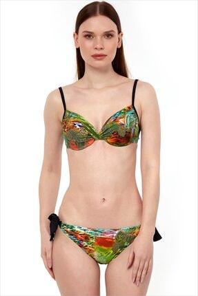 AYYILDIZ Kadın Yeşil Push-up Dolgulu Bikini Takımı 40681