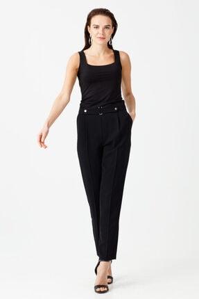Ekol Kadın Siyah Düğmeli Pantolon