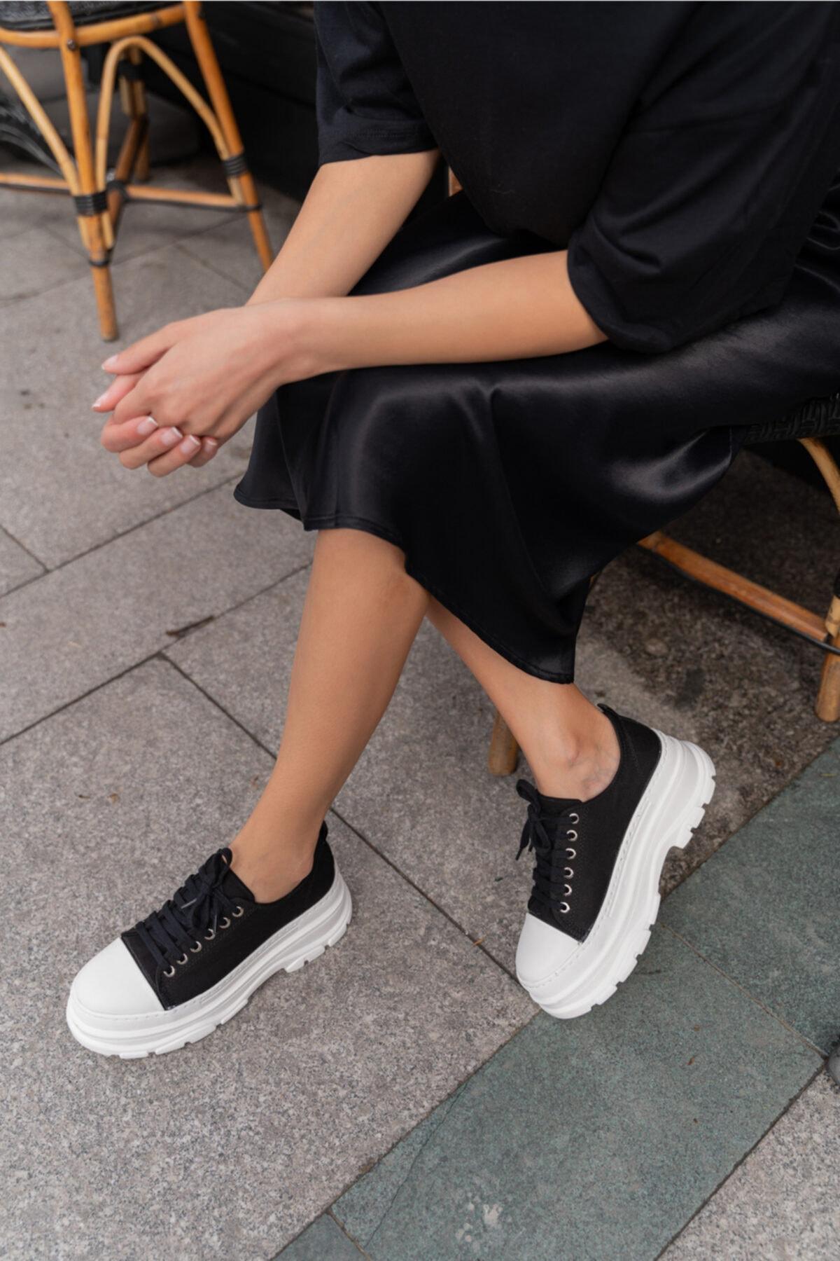 Pointmod Kadın Kalın Taban Sneaker Ayakkabı 1