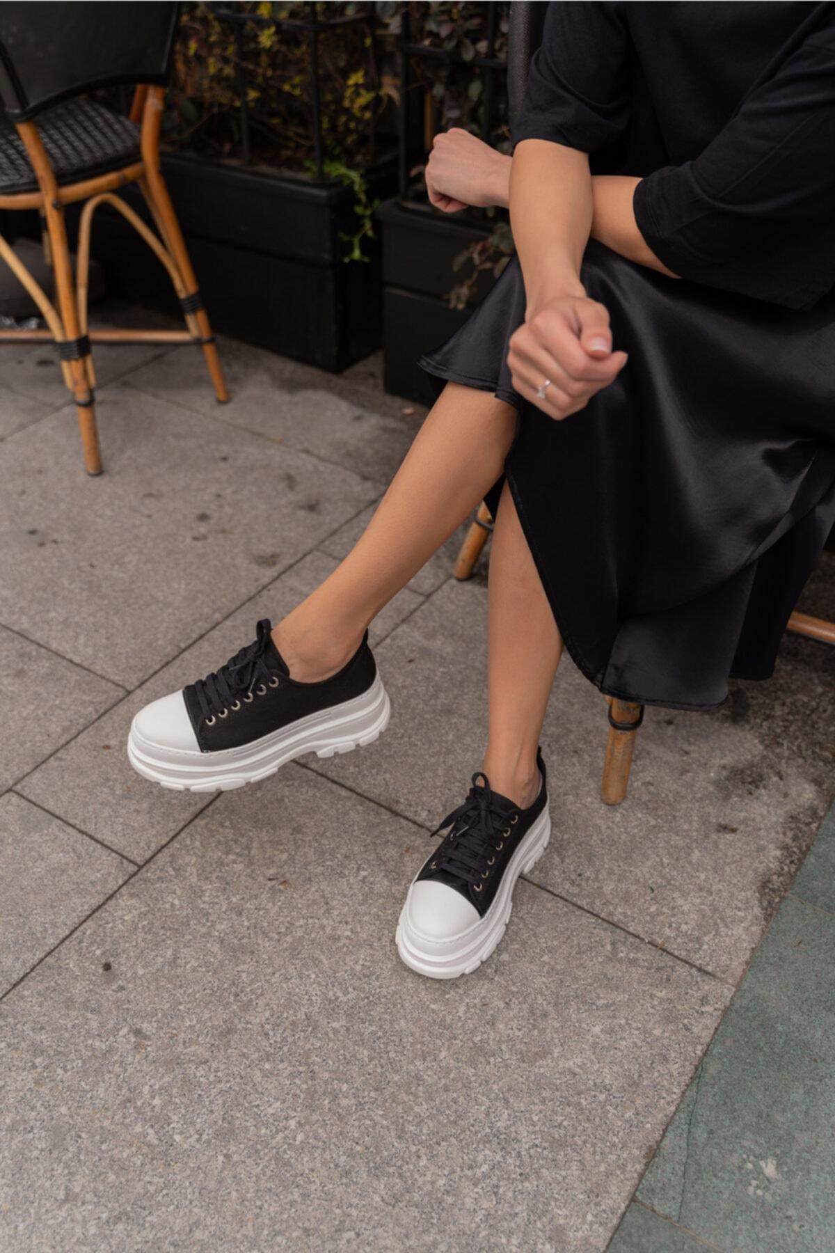 Pointmod Kadın Kalın Taban Sneaker Ayakkabı 2
