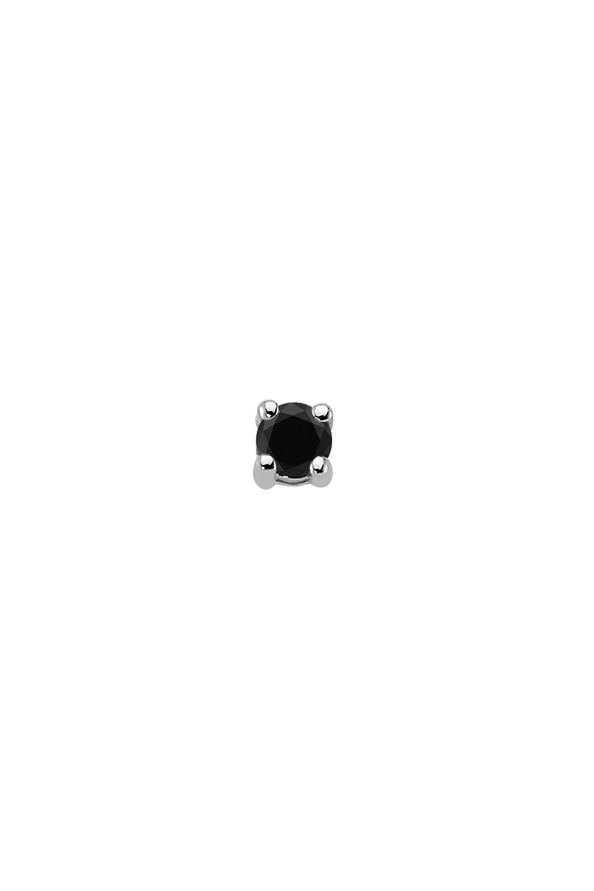 Sirius Pırlanta 0,12 Karat Siyah Pırlanta Tektaş Erkek Küpesi 1
