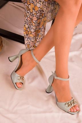SOHO Yeşil Kadın Klasik Topuklu Ayakkabı 16026