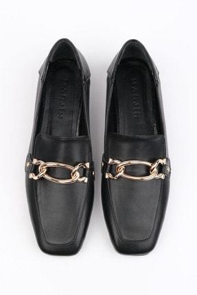 Marjin Nisay Kadın Loafer Ayakkabısiyah