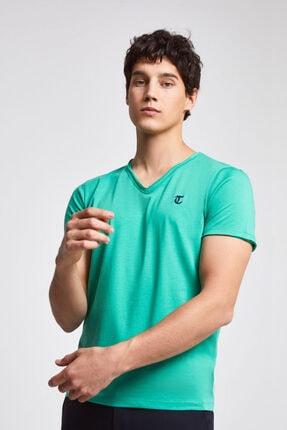D'S Damat Erkek Yeşil Twn Slim Fit T-shirt