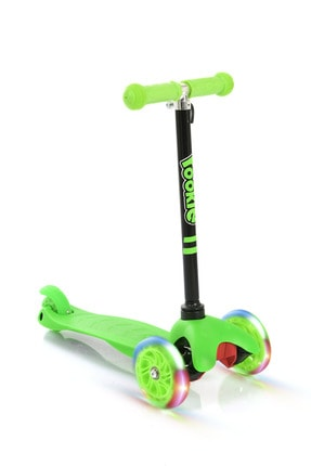 Rookie Yeşil 3 Tekerlekli Led Işıklı Scooter