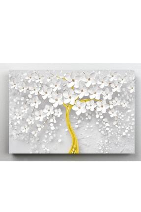 hanhomeart Beyaz Gelincik Kanvas Tablo 60x120cm