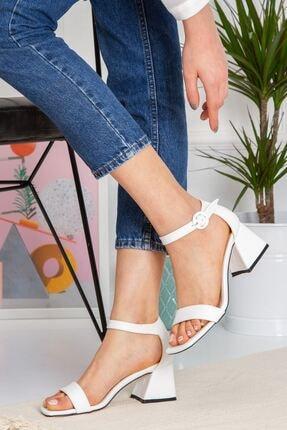 derithy Kadın Beyaz Topuklu Ayakkabı byc1403