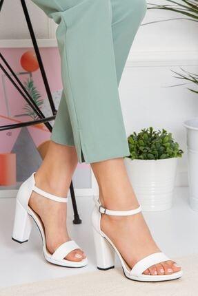 derithy Kadın Beyaz Karenna Topuklu Ayakkabı byc6308