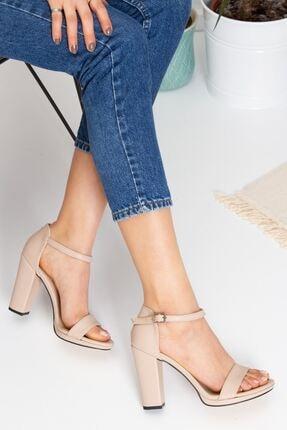 derithy Kadın Bej Topuklu Ayakkabı byc6308